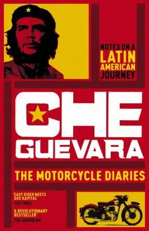The red and yellow cover is a rather busy one for Che Guevara's The Motorcycle Diaries book