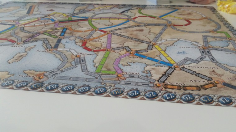 Before we started playing the ticket to ride europe boardgame