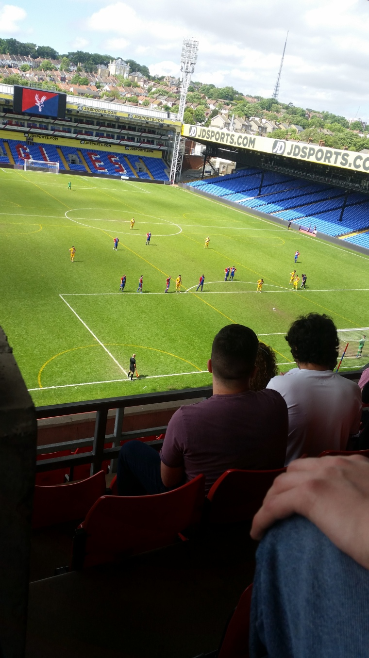 One of the matches during the Crystal Palace Beer Festival 2017 sees adults standing around waiting for a penalty to be taken.