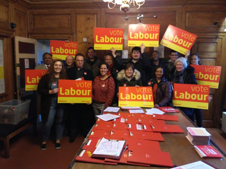 A group meet to campaign in Croydon Central