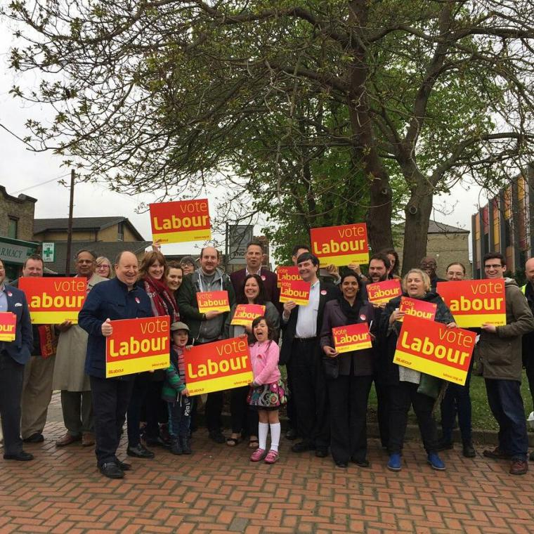 A group meet to campaign for a 2017 Labour win