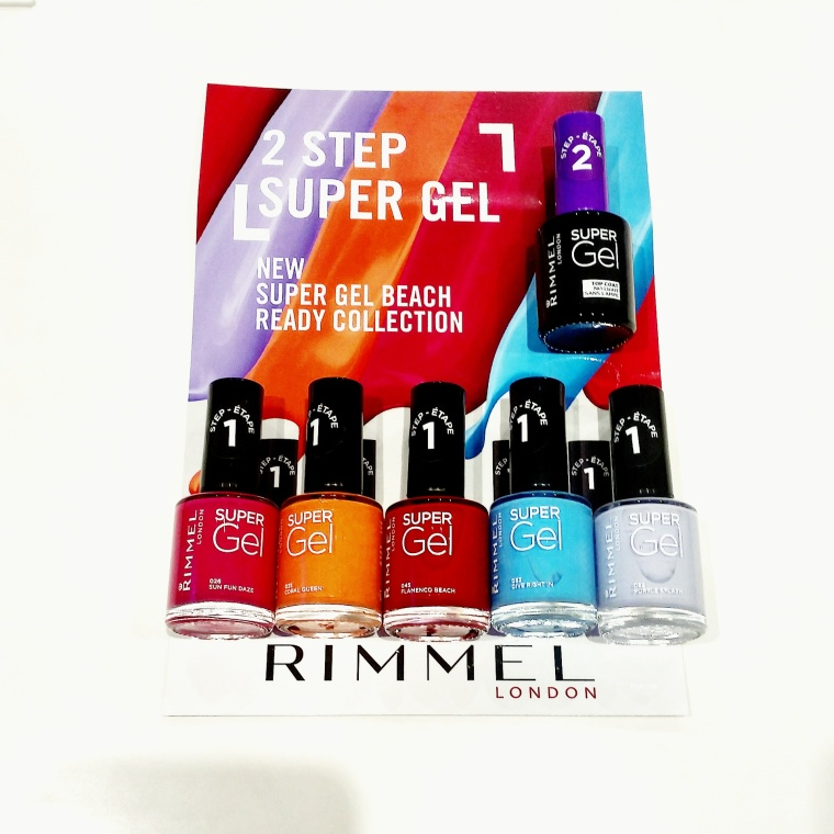Five bright nail varnish colours on top of a press realease
