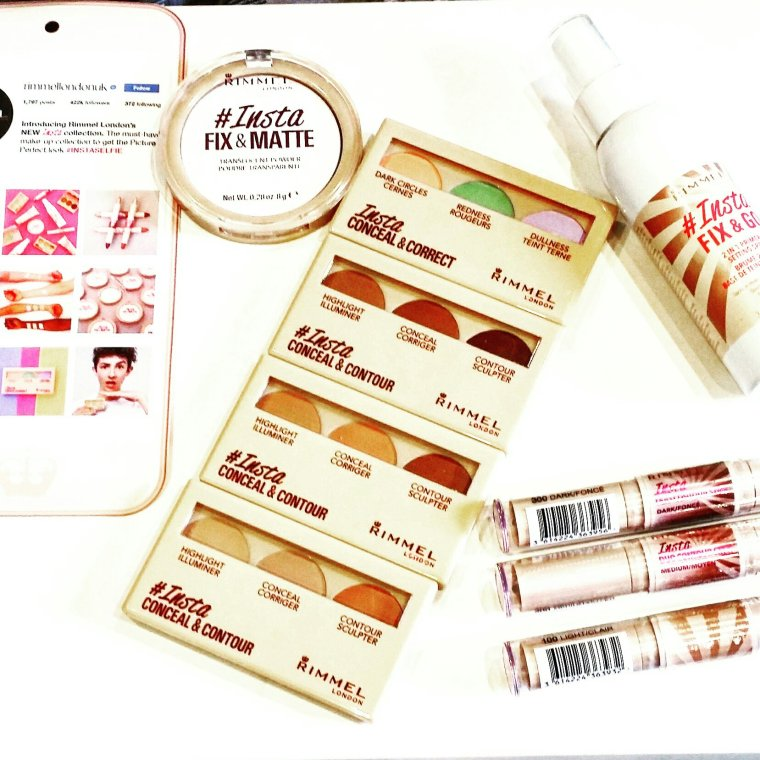 Rimmel's full range of #Insta products including creams, powders and sprays