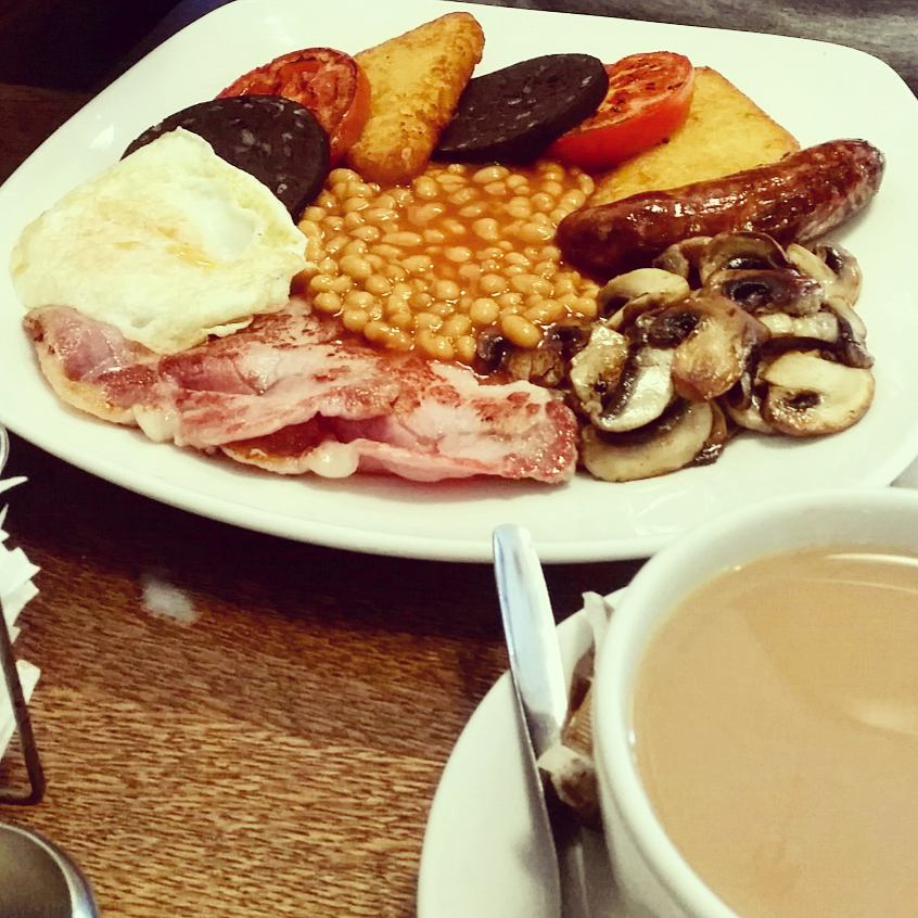 Traditional English cooked breakfast near Beckenham Junction