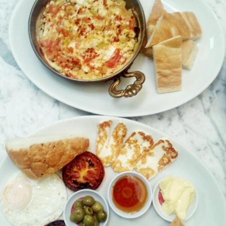 Menemen and Turkish breakfast