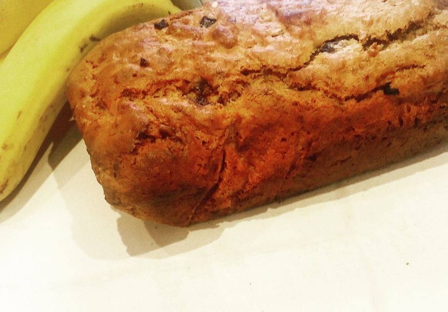 banana and date vegan bread cake
