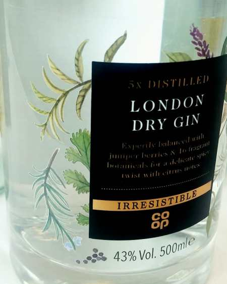 Irresistible Co-op dry gin
