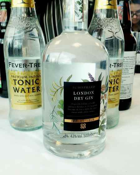 London dry gin and tonic water