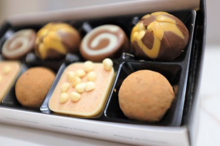 From chocolate truffle to strawberry flavoured chocolate, the contents of the box are revealed