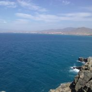 The sea in Spain as captured from a vantage point in Southern Spain's Murcia
