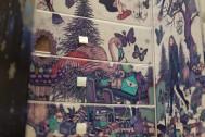 Christmas tree, flamingo, beauty, feminine style design for advent calendar