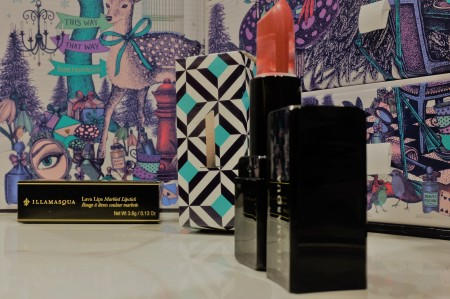 Pink and Red Marbled Lipstick from a High End Brand by Danielle Lowe