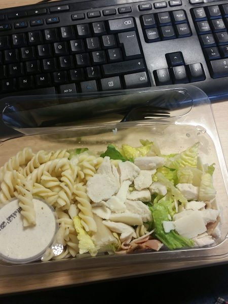 Tesco on the go chicken and bacon pasta