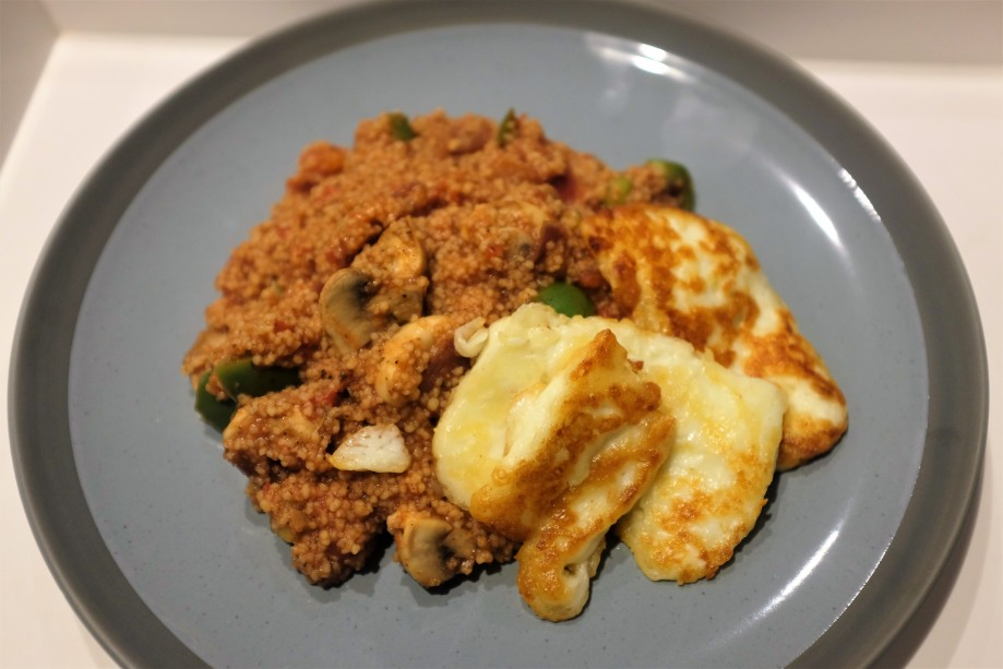 Tomato cous cous and cheese
