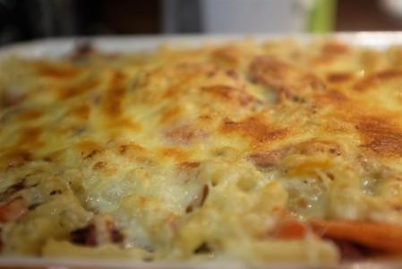 Top of mac n cheese