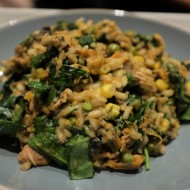 Rice dish with tuna and spinach
