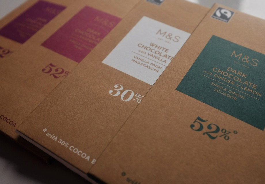 Four Fairtrade chocolate bars