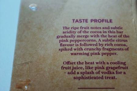 Description of taste notes by M&S