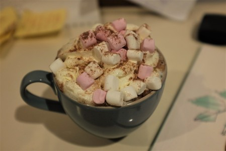 Cream and marshmallows melting