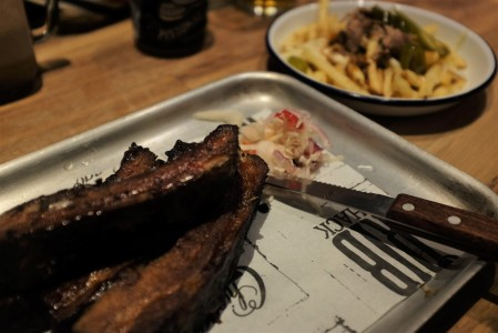 Dirty fries and sticky ribs