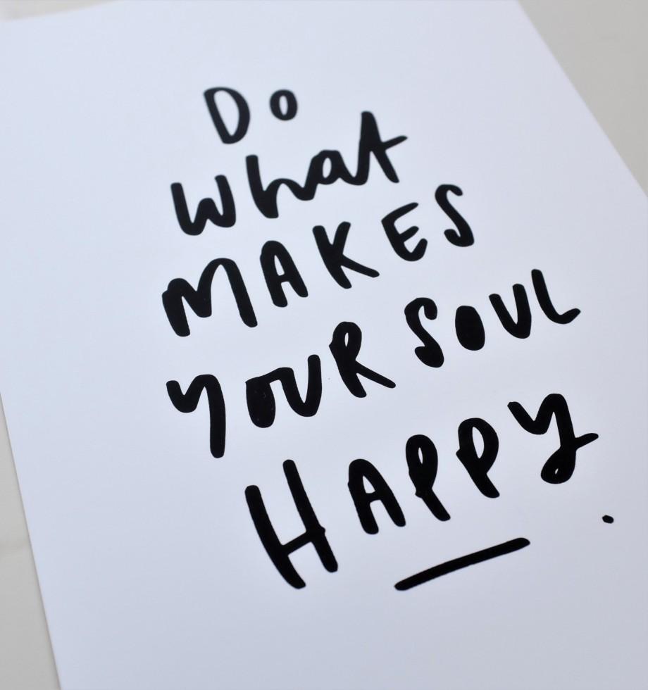 Motivational quote print