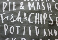 Food based tea towel