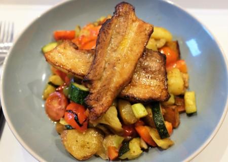 Simple pork, potato and veg medley