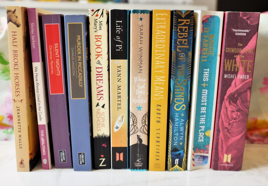 11 books from the charity shop